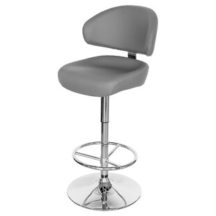 Jaclyn Swivel Adjustable Bar Stool By George Oliver