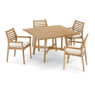 Eichhorn 5 Piece Dining Set with Cushions