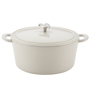 6 qt. Enamel Cast Iron Round Dutch Oven