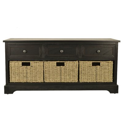 Ardina Wood Storage Bench by Beachcrest Home