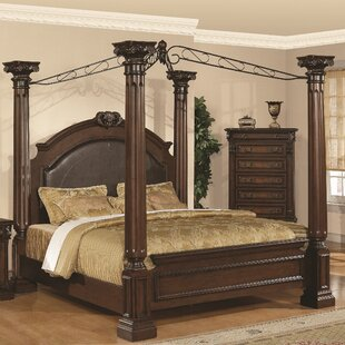 Astoria Grand Payne Upholstered Canopy Bed