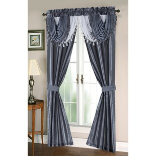 Dumont Complete Taffeta Window in a Bag Set Solid Semi-Sheer Thermal Grommet Curtain Panels (Set of 2) by Astoria Grand