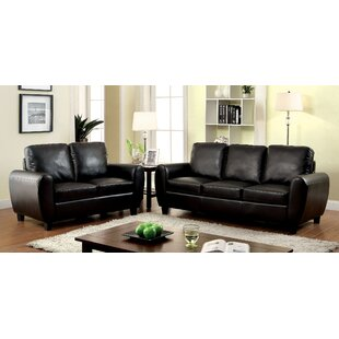 Jonesy 2 Piece Leather Living Room Set by Latitude Run