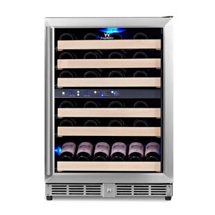 46 Bottle Dual Zone Convertible Wine Cooler by Kingsbottle
