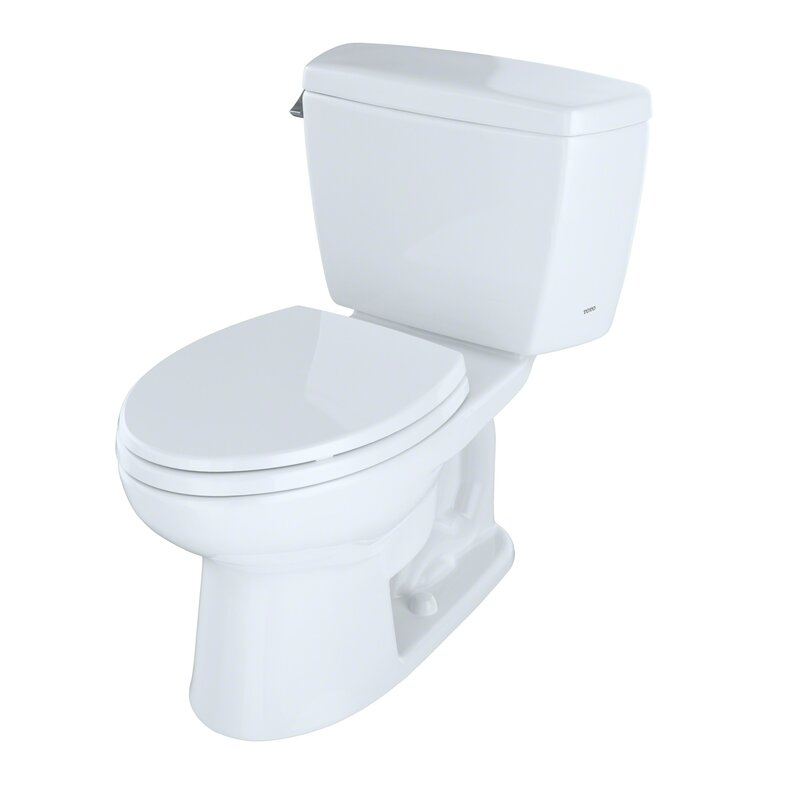 Toto Drake 1 28 Gpf Elongated Two Piece Toilet Seat Not Included Reviews Wayfair