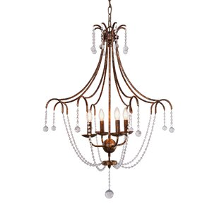 Oakdale Empire 4-Light Chandelier by Ophelia & Co.