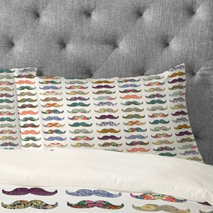 Bianca Green Mustache Mania Pillowcase