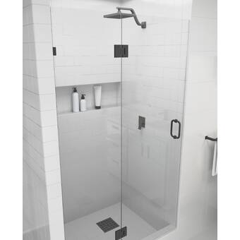 Arizona Shower Door Scottsdale 47 X 72 Hinged Frameless Shower Door With Invisible Shield By Clean X Wayfair