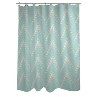 Sabrina Brush Chevron Single Shower Curtain