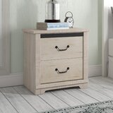 Solihull Farmhouse 2 Drawer Nightstand by Three Posts™