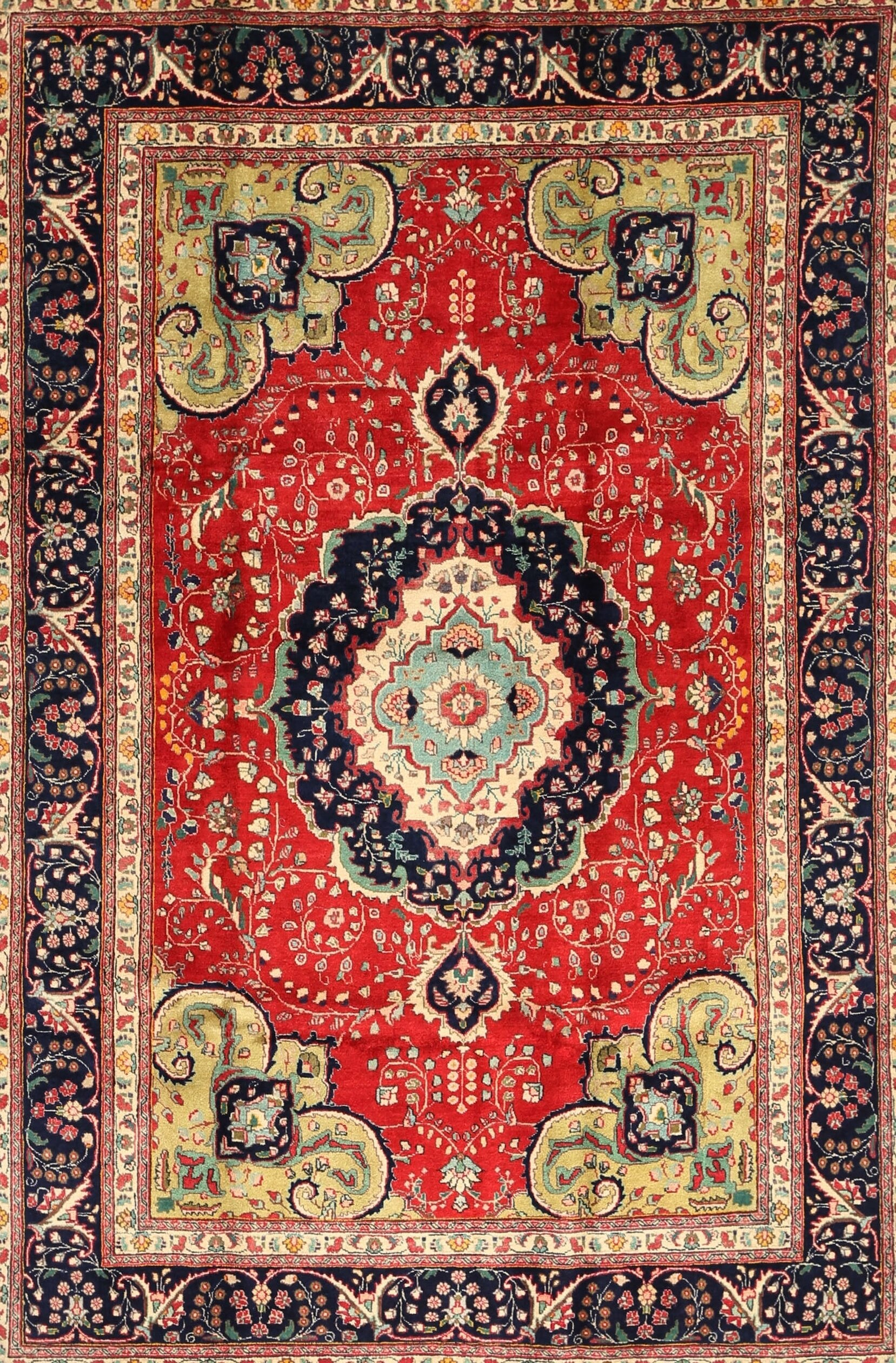 Keenan Traditional Red Blue Area Rug
