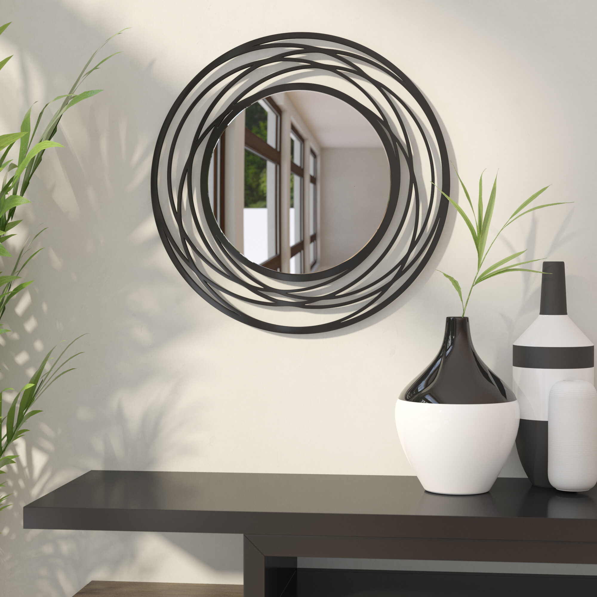 Bathroom Wall Mirror Round Explosion Proof Vanity Mirror Bedroom Fireplace Mirror With Frame Mimbarschool Com Ng