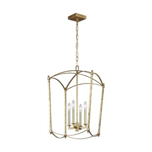 Macon 4-Light Lantern Chandelier by Ophel..