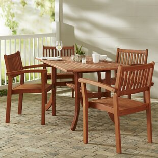 Beachcrest Home Monterry 5 Piece Dining Set