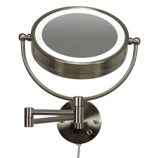 Bargain Bonneauville Round Brass-LED Wall Mount Magnifying Vanity Mirror By Royal Purple Bath Kitchen