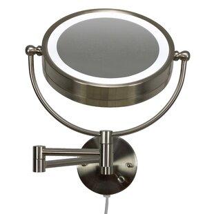 Price comparison Bonneauville Round Brass-LED Wall Mount Magnifying Vanity Mirror ByRoyal Purple Bath Kitchen