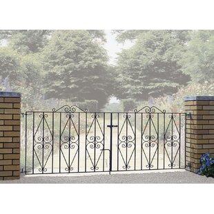Brizendine Premium Scroll Driveway Garden Metal Gate By Rosalind Wheeler