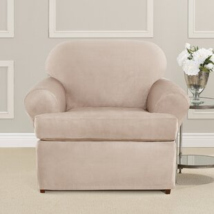 Ultimate Heavyweight Stretch Suede T-Cushion Armchair Slipcover
