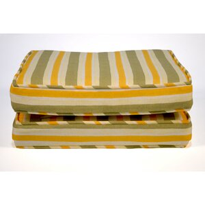 Boxed and Welted Stripe Outdoor Dining Chair Cushion (Set of 2)