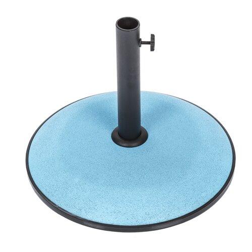 Freistehender Schirmständer aus Beton Garten Living Farbe: Meeresblau   Flur & Diele > Schirmständer   Garten Living