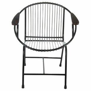 Brayden Studio Borst Metal Wire Lounge Chair