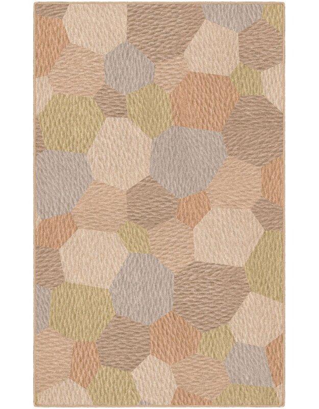 Ebern Designs Burns Tan Area Rug, Size: Rectangle 76 x 10