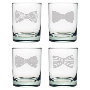 Bowtie Rocks Glass (Set of 4)