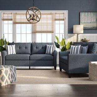 Breakwater Bay Wolfram 2 Piece Living Room Set