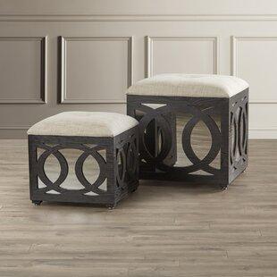 Yarm 2 Piece Cube Ottoman Set