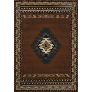 Hyacinthe Tucson Brown Area Rug by Loon Peak
