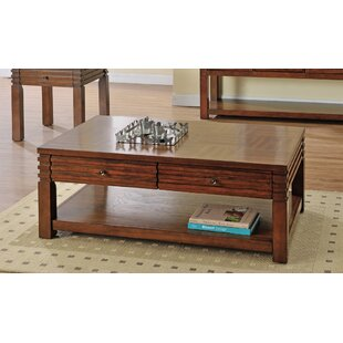 Stegner Coffee Table with Storage Millwood Pines