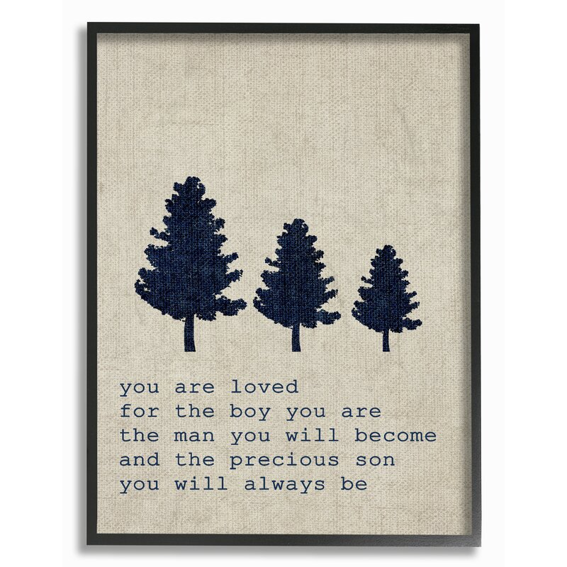 Stupell Industries You Are Loved Son Trees Textual Art Reviews Wayfair