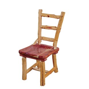 Gladeview Cedar Solid Wood Dining Chair Loon Peak