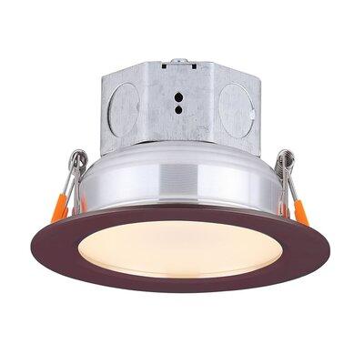 "Dimmable 5.5"""" LED Integrated Semi Flush Mount Amax Lighting Finish: Bronze -  LED-SR4SP/BZ"