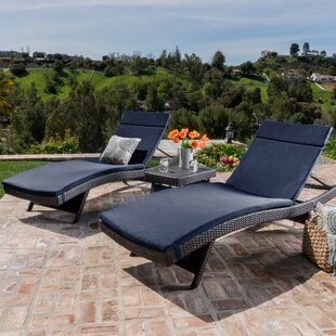 Amd 3 Piece Chaise Lounge Set with Cushion