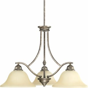 Ophelia & Co. Abdou 3-Light Shaded Chandelier