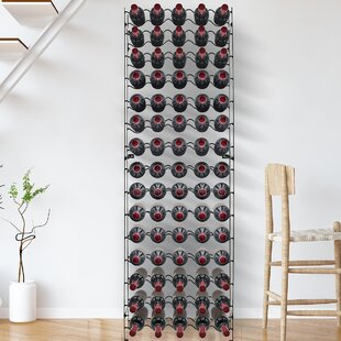 Mosteller Freestanding 75 Bottle Floor Wine Rack