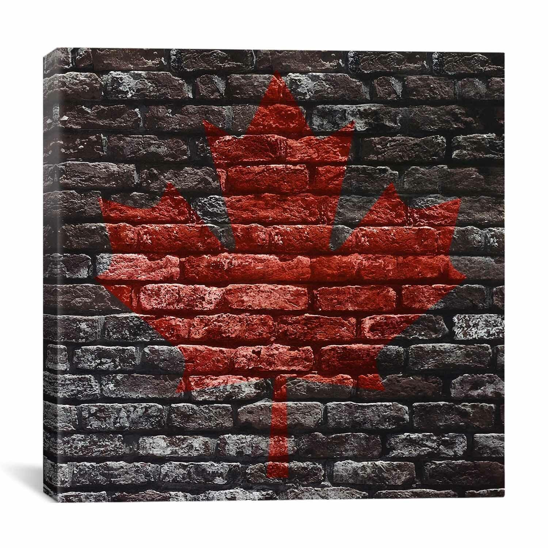 Winston Porter Canadian Flag Maple Leaf 11 Graphic Art On Canvas Wayfair