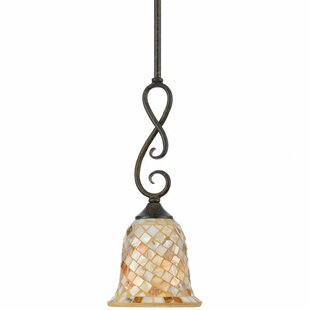 Beachcrest Home Frangipani 1-Light Cone P..