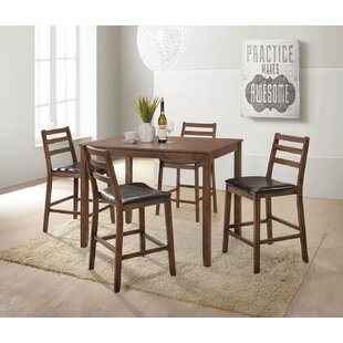 Pascual 5 Piece Counter Height Dining Set Loon Peak