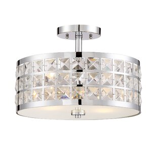 House of Hampton Ritter 2-Light Semi Flush Mount