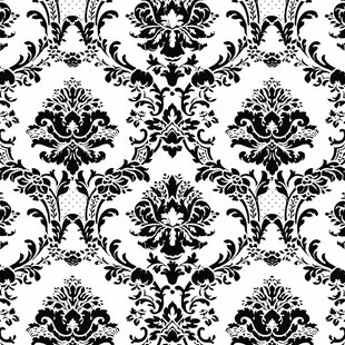 Black Damask Wallpaper You Ll Love In 2020 Wayfair