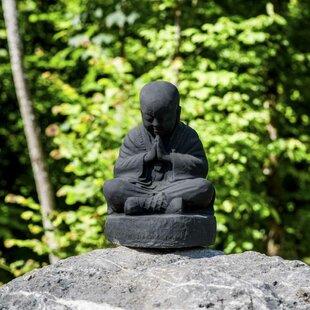 Kahn Seated Shaolin Monk Statue By Bloomsbury Market