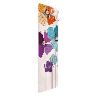 Pastel Poppy Wall Mounted Coat Rack By Symple Stuff