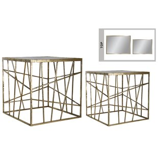 Colgan Metal Square 2 Piece Nesting Tables