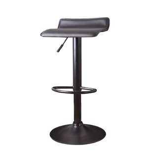 Decker Adjustable Height Swivel Bar Stool (Set of 2)