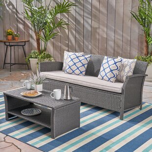 Kimberlee 2 Piece Rattan Sofa Seating Group