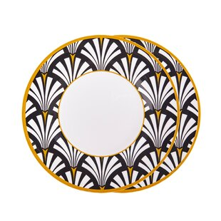Sarandon 2 Piece Melamine Dinner Plate Set By Canora Grey