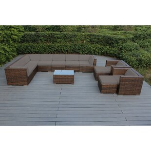 Konieczny 12 Piece Sunbrella Sectional Seating Group with Cushions