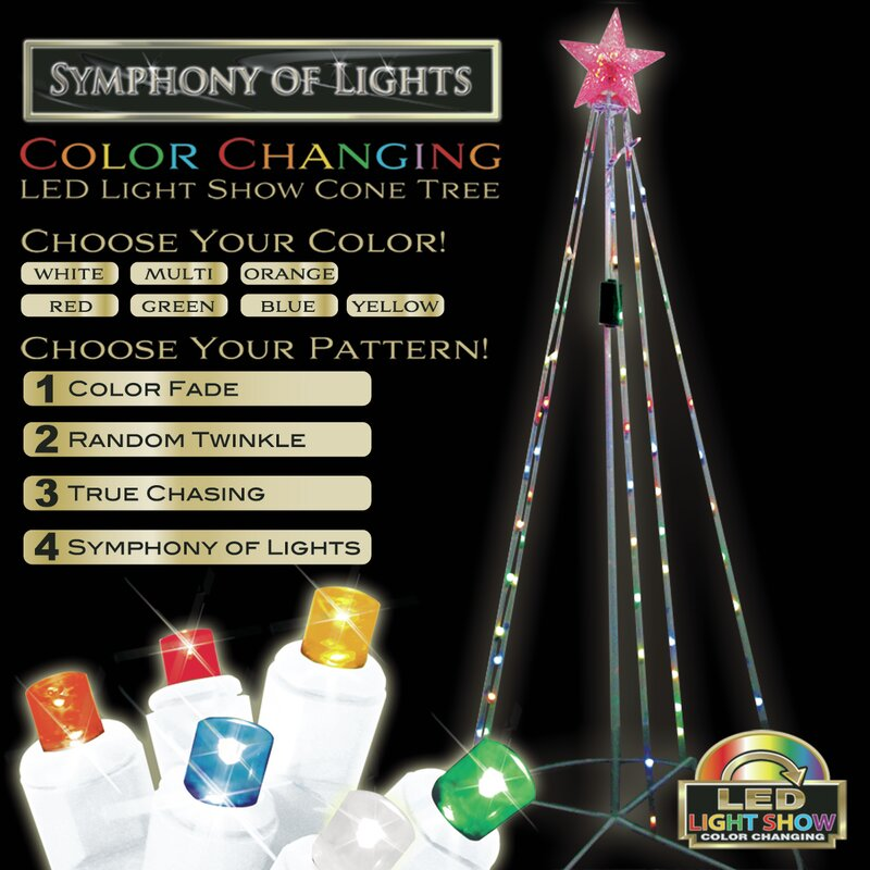 Light Show Cone Tree Christmas Decoration